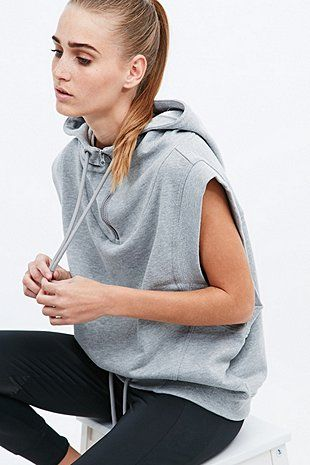 Adidas Stellasport Sleeveless Hoodie in Grey - Urban Outfitters