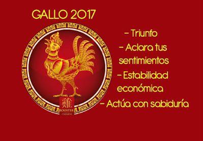 1921, 1933, 1945, 1957, 1969, 1981, 1993, 2005       El año del Gallo de Fuego Rojo Yin comienza el día 28 de Enero 2017 y termina el 15 Fe...
