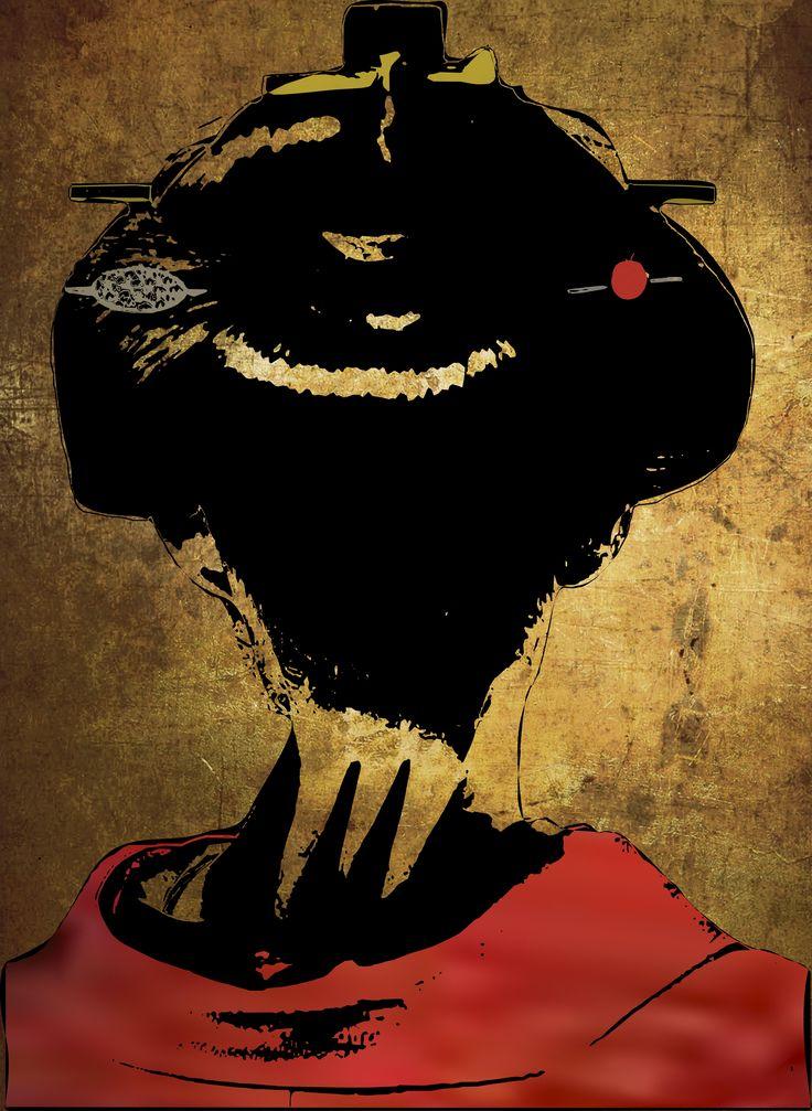 Geisha Illustration from Inma Mellado - ArsDigitalis