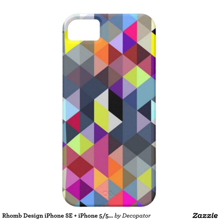 Rhomb Design iPhone SE + iPhone 5/5S, Barely There iPhone 5 Case