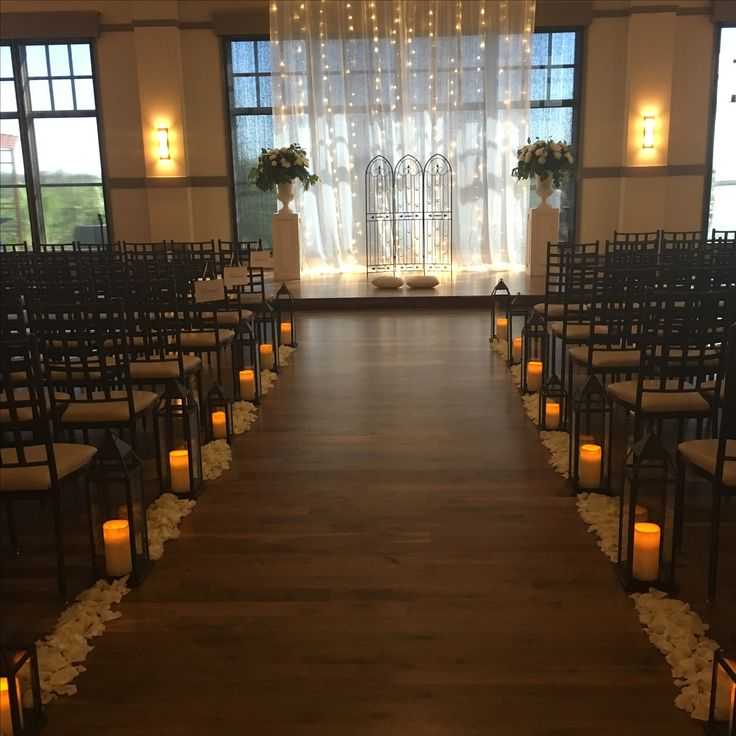 Romantic Ceremony Drapery by Noahs Event Venue San Antonio