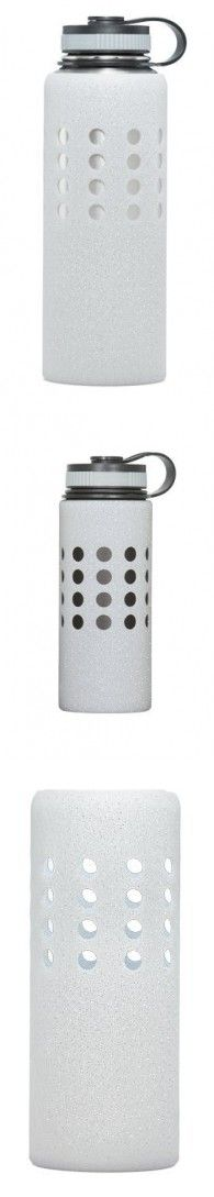 Hydroskins Hydro Flask Water Bottle Silicone Sleeve (Clear w/ Glitter, 20 ounces)