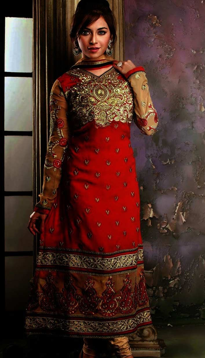 Get Indian Designer #RedGeorgetteChuridar #Kameez #AnarkaliDresses Product code: Unstitch Suit Price: INR 4819 (KPW-36099), Color: Red Shop Online now: http://www.efello.co/Salwar-Kameez_Indian-Designer-Red-Georgette-Churidar-Kameez-Anarkali-Dresses,-Dress_4529