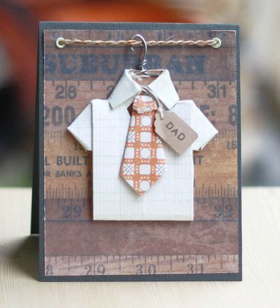 Cute Dad Card...with the shirt and tie on a hanger!