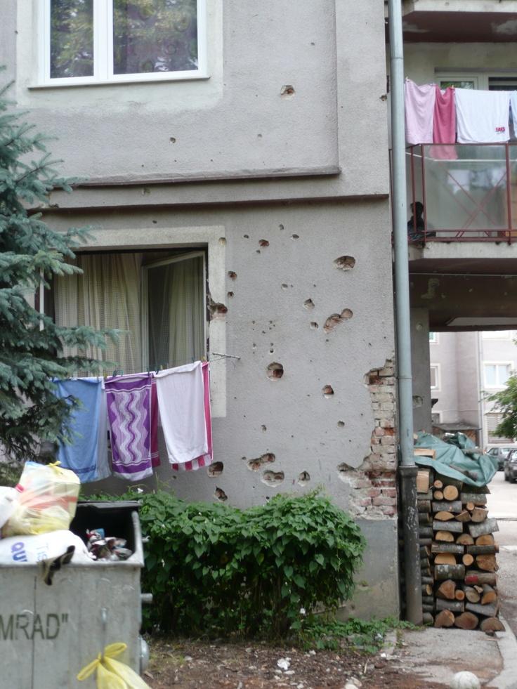 Bosna Herzegovina - gotta love the bullet holes