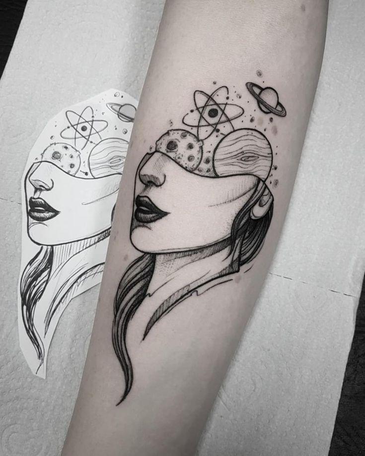 Tatuaje De Universo Tattoo Tattoos Tatuagem Tatuajes