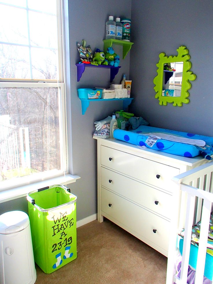 Blue And White Wooden Star For Babies Room