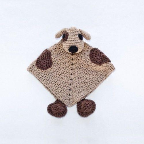 Puppy Dog Security Blanket Crochet Pattern