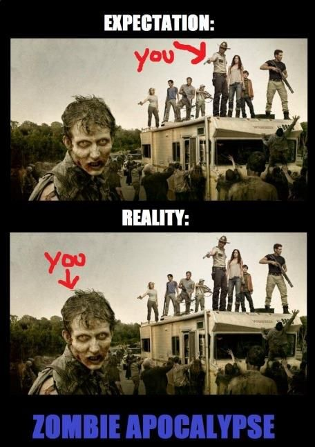 So true, unfortunately!  I'll be so excited that I'll try to touch a zombie, and that'll be the end of me...
