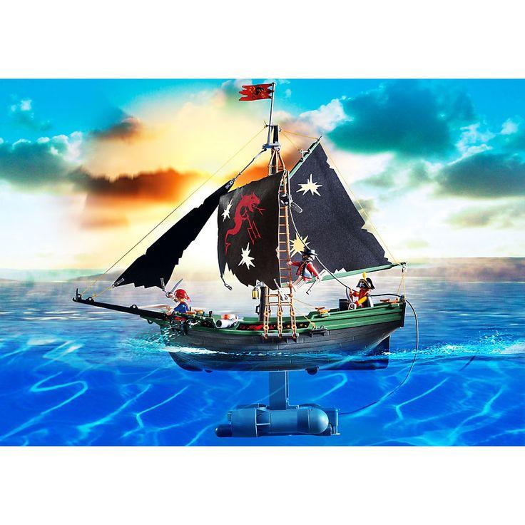 Playmobil Piraci Zdalnie sterowany statek piracki z silniczkiem, 5238, klocki