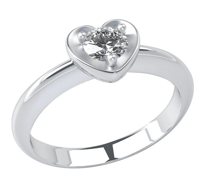 NICO JULIANY КОЛЬЦА ДЛЯ ПОМОЛВКИ    Изысканное кольцо с бриллиантом – лучший вариант украшения для помолвки. Ювелирное изделие из белого золота украшает сердце, в центре которого находится бриллиант. Это не просто роскошное украшение, а красивая аллегория – чувства мужчины подобны бриллианту, такие же крепкие, светлые и многогранные. Посмотрите другие модели колец для помолвки.