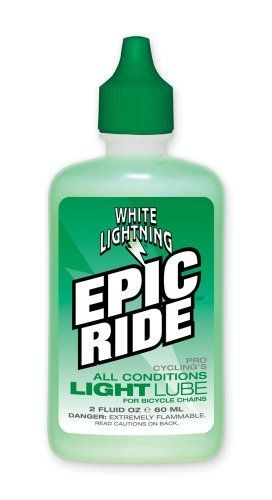 "Product review for White Lightning Epic Ride All Conditions Light Bicycle - White Lightning EPIC Ride Lube is a Light Bodied Synthetic Lubricant. Provides extreme Durability, Smooth Shifting & Quiet Riding In All Riding Conditions   	 		 			 				 					Famous Words of Inspiration...""Our true nationality is mankind.""					 				 				 					H.G...."
