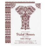 Elegant Brown Henna Elephant Bridal Shower Invite #weddinginspiration #wedding #weddinginvitions #weddingideas #bride