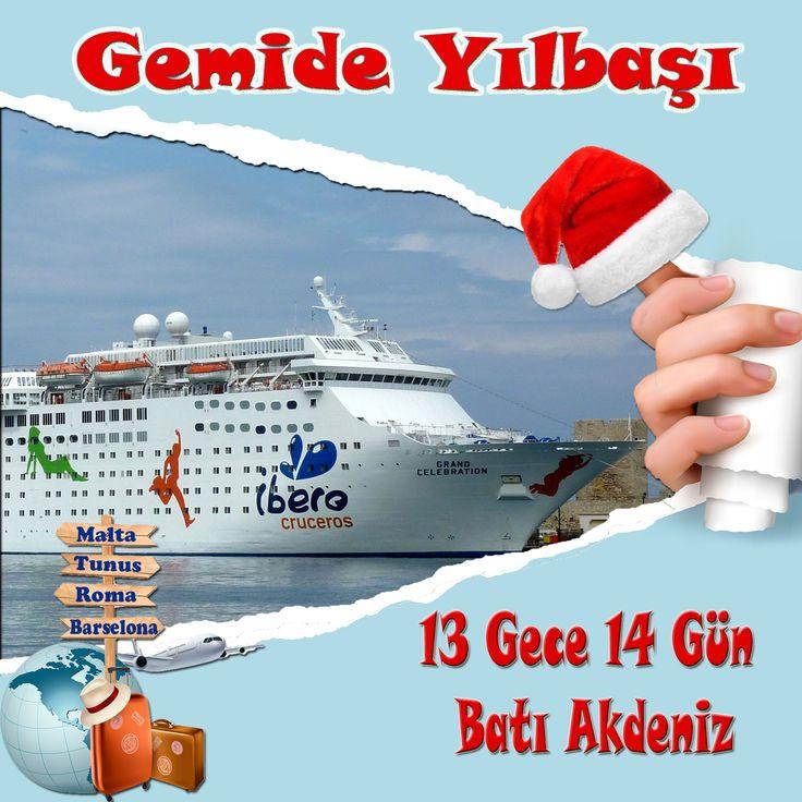 30 Kasım-14 Aralık- 28 Aralık Tarihlerinde Gemilerimiz Hareket Edecektir.  Size Hangi Gün Uygun ?  Erken Rezervasyon Ayrıcalığından Faydalanın.  Detaylı bilgi için sitemizi ziyaret edebilirsiniz yada ücretsiz danışma hattı 0850 460 88 11 nolu telefonu arayabilirsiniz.   http://www.gemiturlari.com.tr/costa-celebration-bati-akdeniz-13-gece-14-gun-yilbasi/