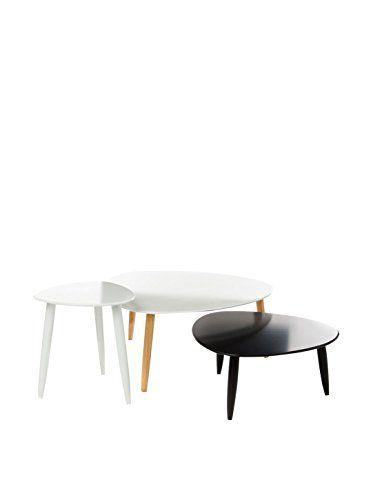 de.buyvip.com  Zusätzliche Informationen: Beine aus Holz und Tischplatte aus lackiertem MDF. Maße: 80 x 80 x35; 60x60x28; 40x40x43.