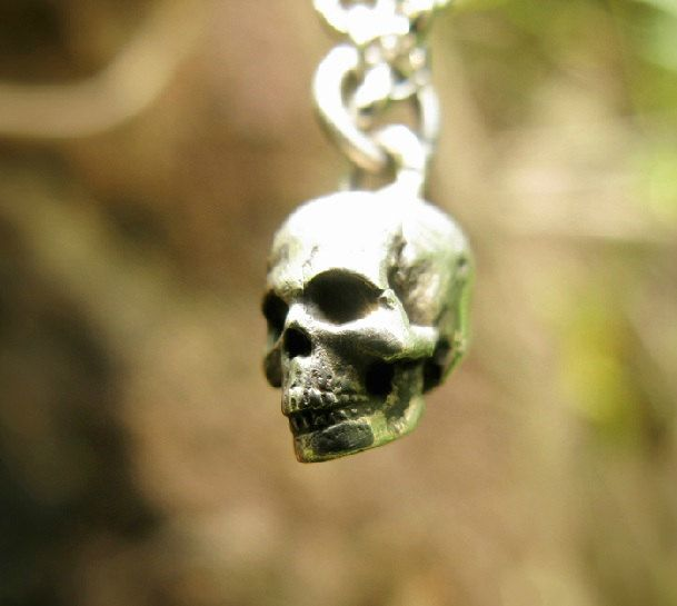 Silver Skull Pendant, 925 Silver Skull Pendant, Gothic Silver Jewelry, Unique Jewelry, Steam Punk Jewelry, Halloween, Wholesale Available