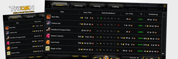 Make millions of gold in World of Warcraft with Tycoon Gold Addon! >> Make millions of gold in World of Warcraft with Tycoon Gold Addon --> http://www.tycoongoldaddon.me/
