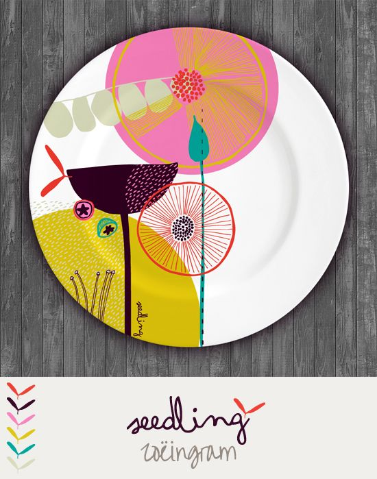 Zoe Ingram Seedling - one of my plate designs from the MATS course