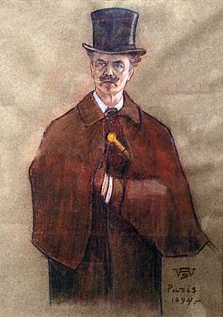 August Strindberg by Wettenhovi-Aspa (Wetterhoff-Asp) 1894 in Paris.