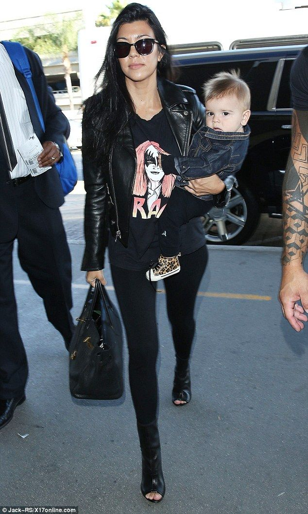 Independent woman: Kourtney and her longtime partner Scott Disick recently split and she h...