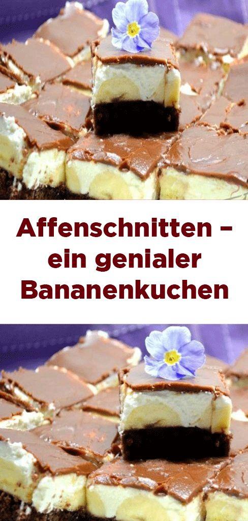 Affenschnitten – ein genialer Bananenkuchen