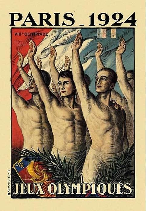 1924 Paris Summer Olympic Games Poster