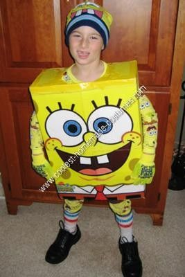 Homemade Spongebob Halloween Costume Idea: For this homemade Spongebob Halloween…