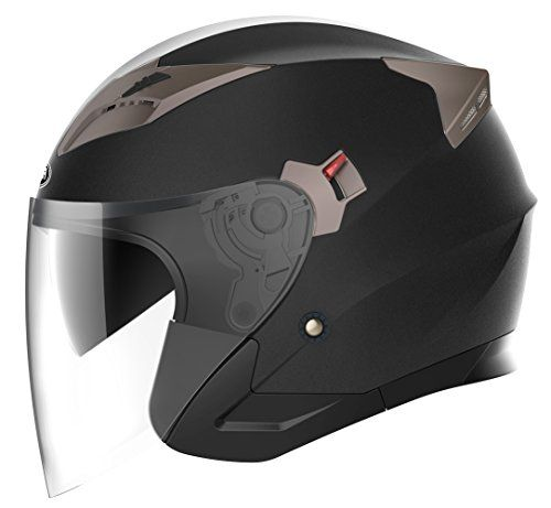 Motorcycle Open Face Helmet DOT Approved - YEMA YM-627 Motorbike Moped Jet Bobber Pilot Crash Chopper 3/4 Half Helmet with Sun Visor for Adult Men Women - Matte Black,Large #Motorcycle #Open #Face #Helmet #Approved #YEMA #Motorbike #Moped #Bobber #Pilot #Crash #Chopper #Half #with #Visor #Adult #Women #Matte #Black,Large