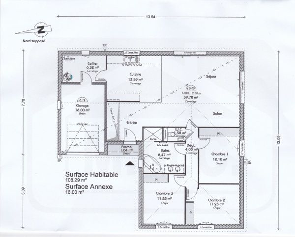 Plan De Notre Maison En L De PP 110m2 (27 Messages)   ForumConstruire.