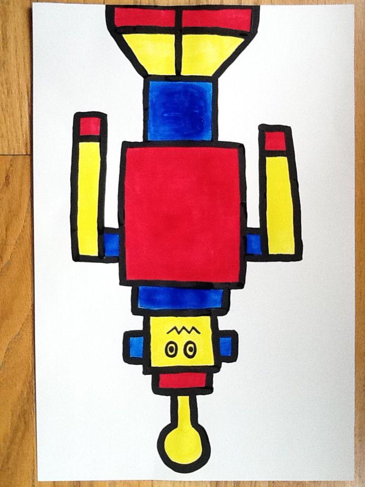Resource: Mondrian Robot Painting