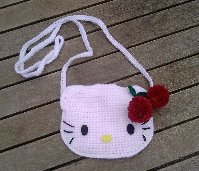 Ravelry: Hello Kitty Childs Purse pattern ~ Crochet Knit Tote Bags Back ...