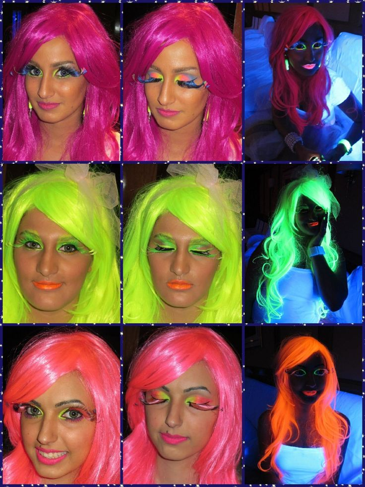 17 Best Images About Glow In The Dark Makeup