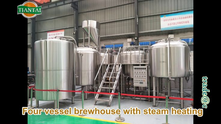 Four Vessel 2000L Beer Brewery System with Steam heating