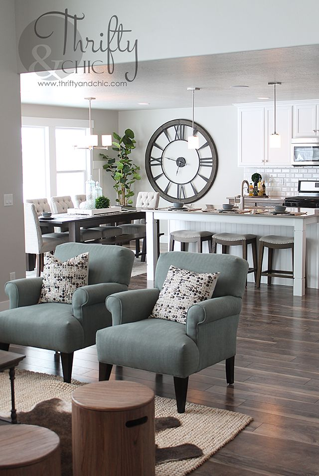 Great Room Decorating Idea And Model Home Tour