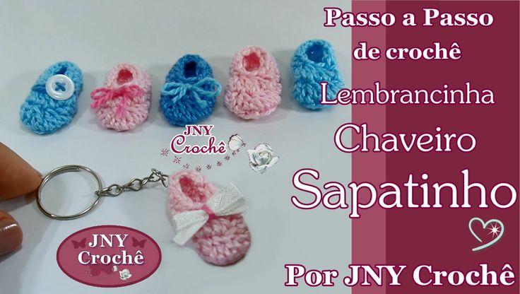 Passo a Passo de crochê Chaveiro Sapatinho por JNY Crochê