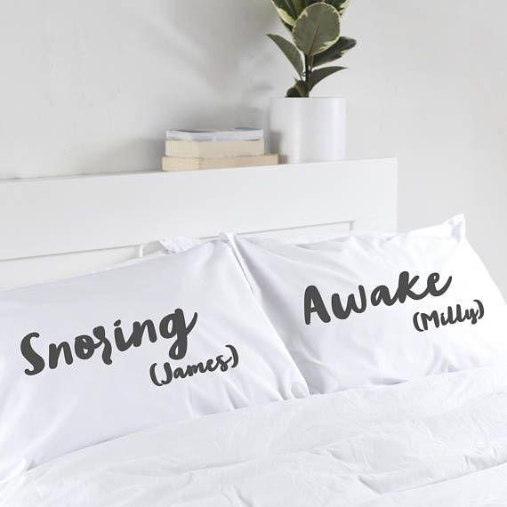 Personalised Pillowcases unusual wedding gift anniversary