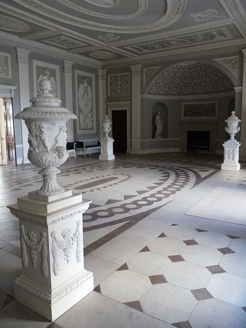 neoclassical urns in Entrance Hall of Osterley Park House | Flickr - Photo Sharing!