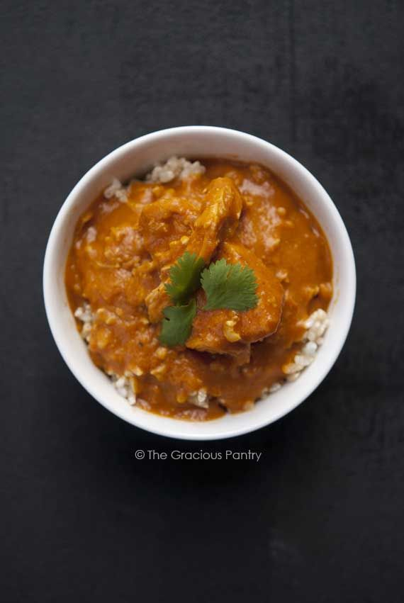 Clean Eating Pumpkin Chicken Curry #cleaneating #chicken #slowcooker #crockpot #paleo #healthyrecipe #healthydinner #glutenfree
