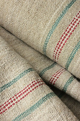 vintage homespun hemp yardage for upholstery