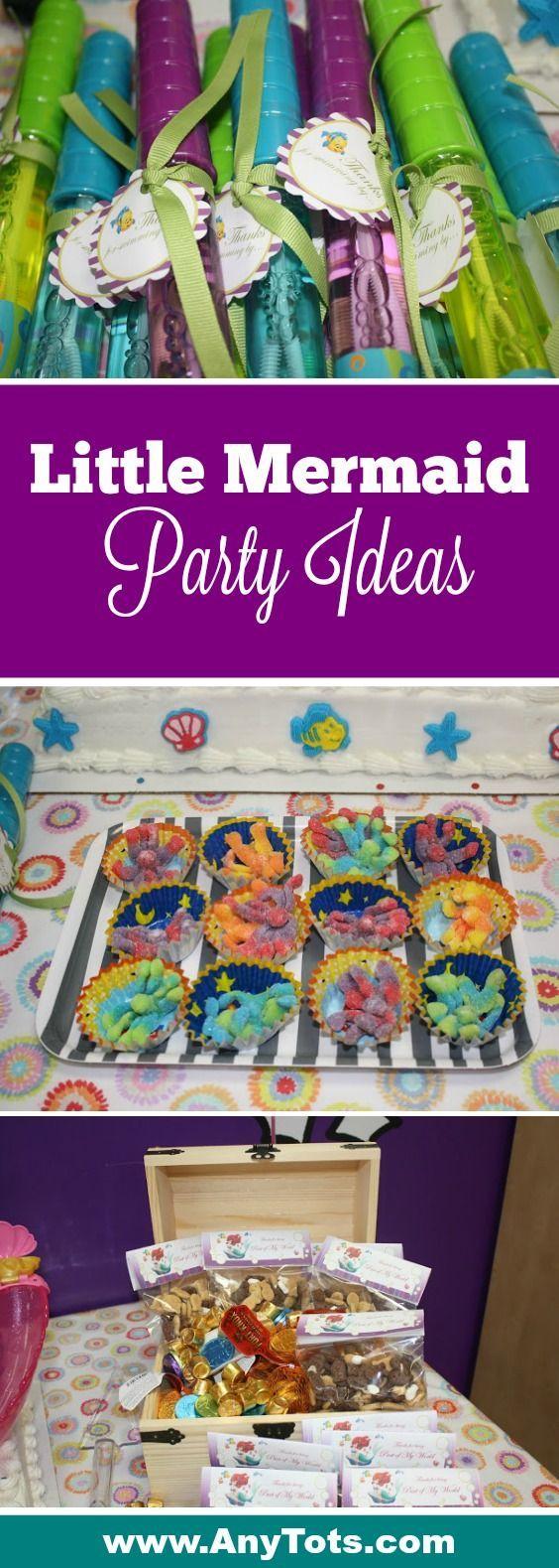 Little Mermaid Party Ideas. Ariel Birthday Cake, Little Mermaid Party Favor Idea, Under the Sea Party Treats. Little Mermaid Free Printable Tags, Octopus Gummies. More Under the Sea Party Ideas via www.anytots.com #LittleMermaid #UndertheSea #BirthdayParty #PartyIdeas #ArielParty