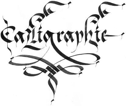 Calligraphie calligraphié !