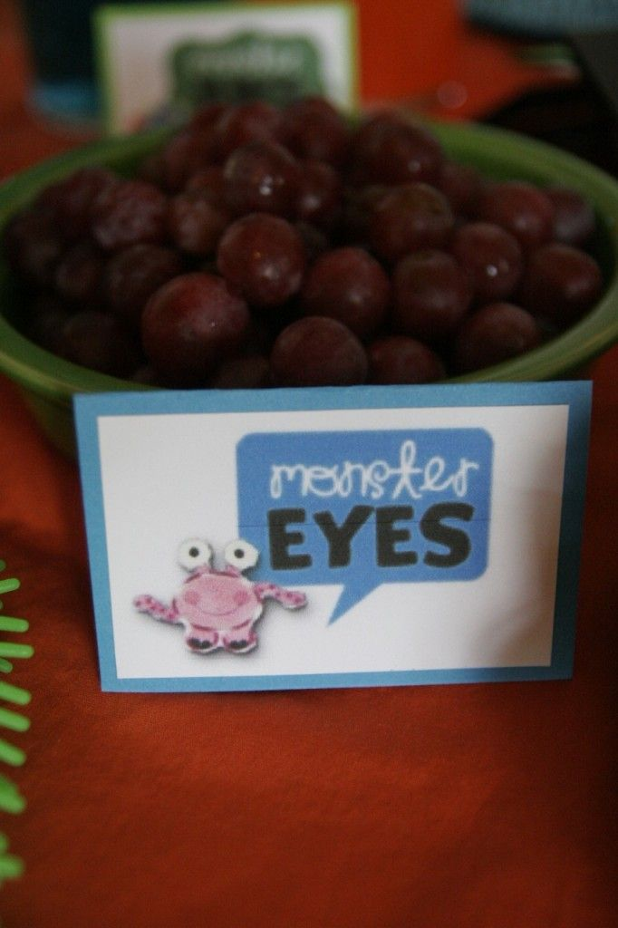grapes = monster eyes