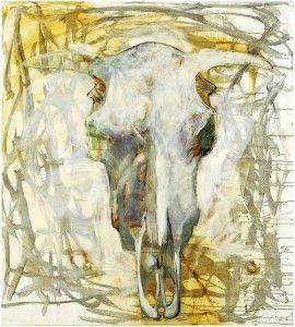 "Marjatta Tapiola's ""The Wonderer"" (Vaeltaja), 1995, at the Helsinki Art Museum retrospective; fluidity of line, painting at her best."