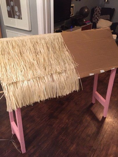 DIY Tiki Bar / How to Make your own Tiki Bar for your Luau Party / Fun Luau Party Decor / apurdylittlehouse.com