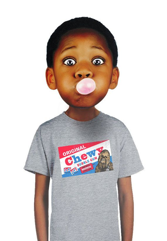 chewbacca shirt funny star wars shirt bazooka gum by apesnort