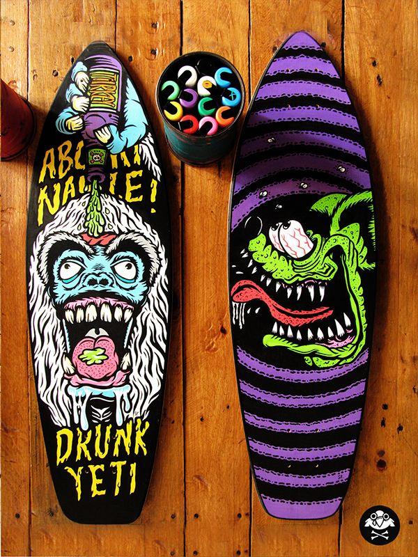 Skate art decks Vol.2 by Santi Lissarrague, via Behance