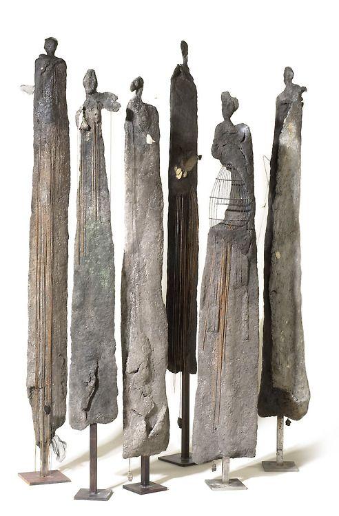 concrete - stone - wood artpropelled: Yolande Biver