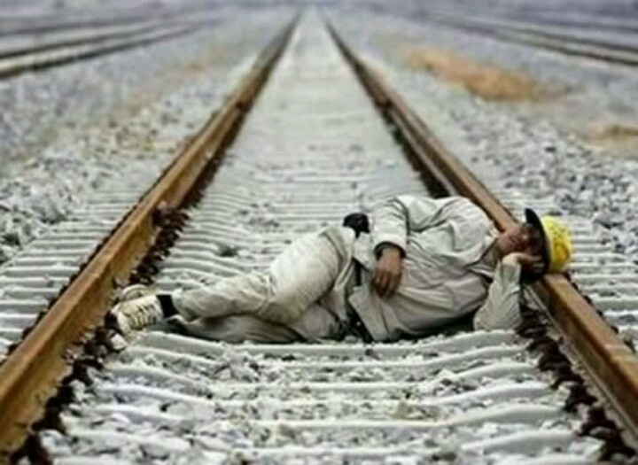 Next time try inbetween the tracks
