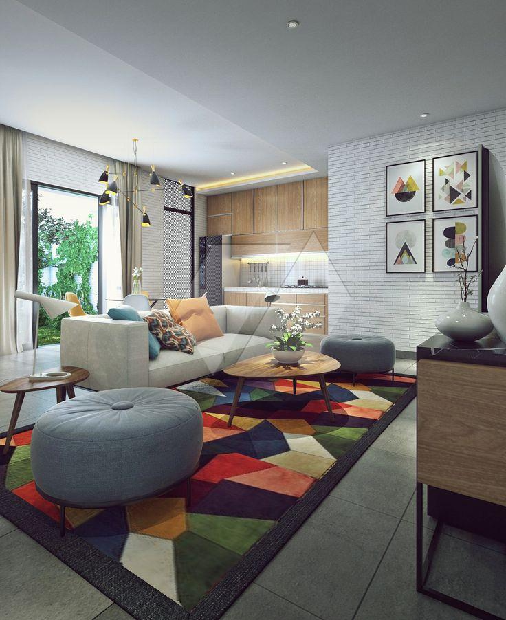 Desain ruang tamu super nyaman dan stylish | Portofolio By : Dimas Daforza (Interior Designer di Sejasa.com)