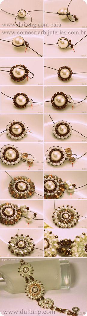 Como fazer ponto peyote redondo: Basicamente existem duas formas de fazer bijuterias fazendo pontos peyote em forma de círculos. Uma das formas está...